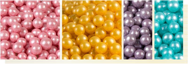 Decorazioni-sferiche-perlate-rosa-oro-lilla-blu